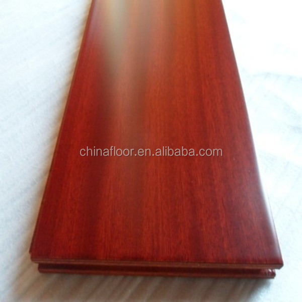 Prefinished oil coating mahogany sapele engineered wood flooring