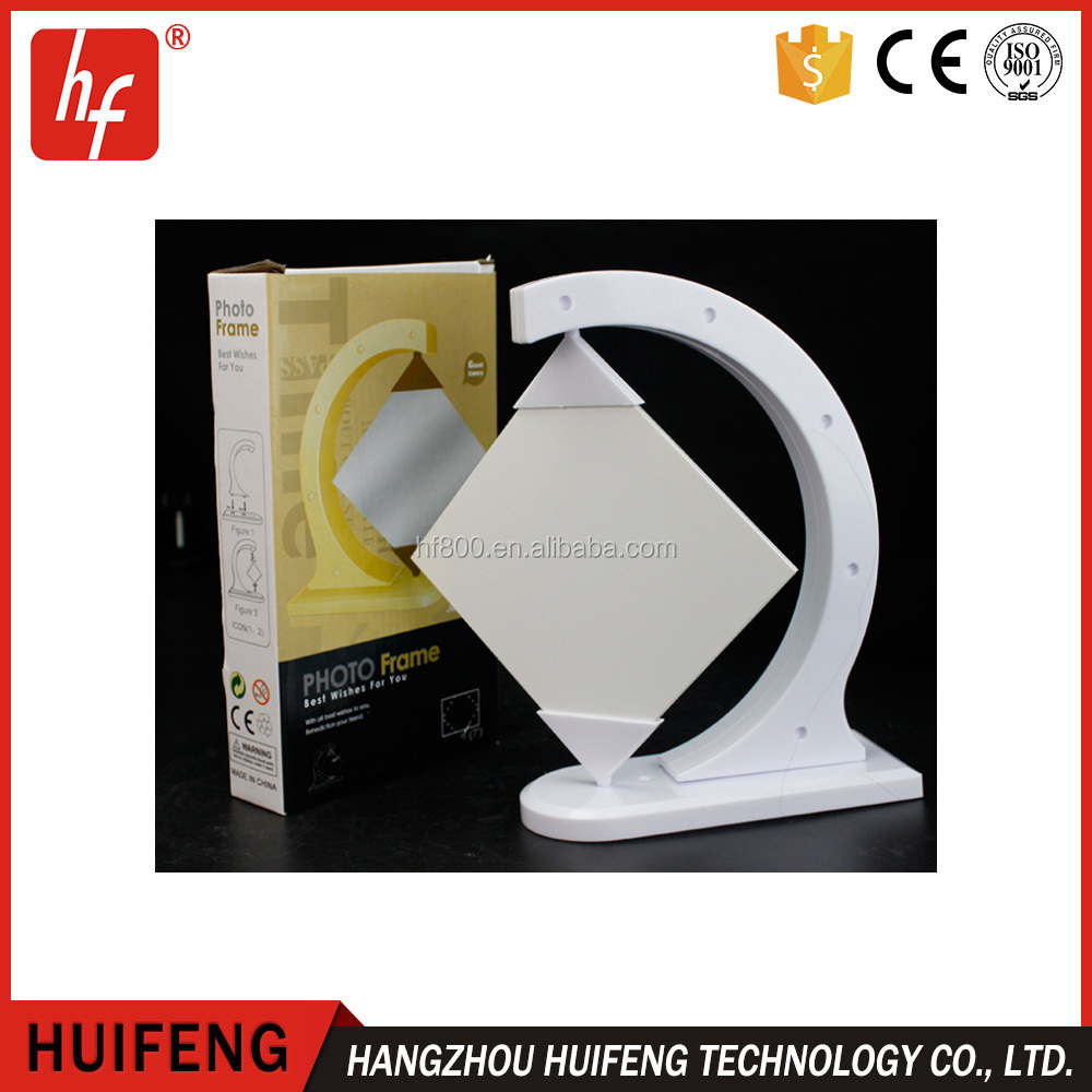 Creative Hot melt glass sublimation blanks photo frame for sublimation