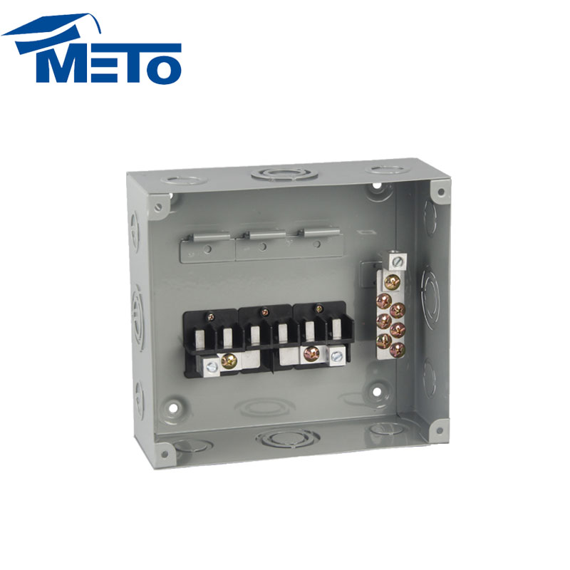 METO 6 way 3 phase domestic residnetial commercial distribution board electrical panel board