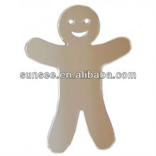 Elegant Acrylic mirror,Gingerbread Man Mirror 12cm X 8cm AM-024