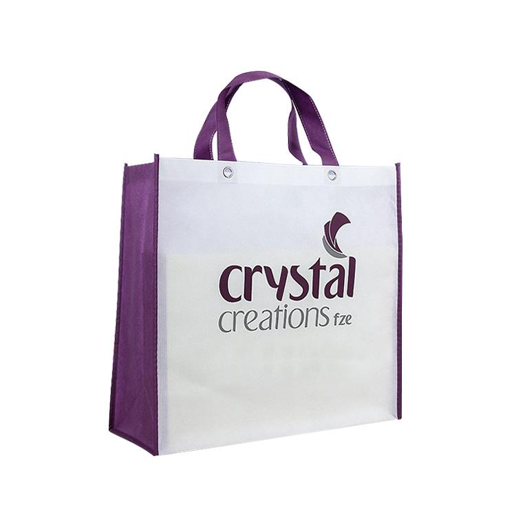Günstige Preis Tragen Tasche Griff Vlies Tasche Mit Stanzen Metall Ring In Einkaufen Werbung Recycelt Tasche