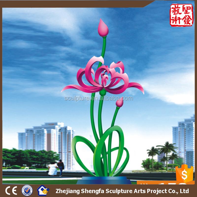 Stainless Steel Outdoor Sculpture Garden Flower Stainless Steel ...