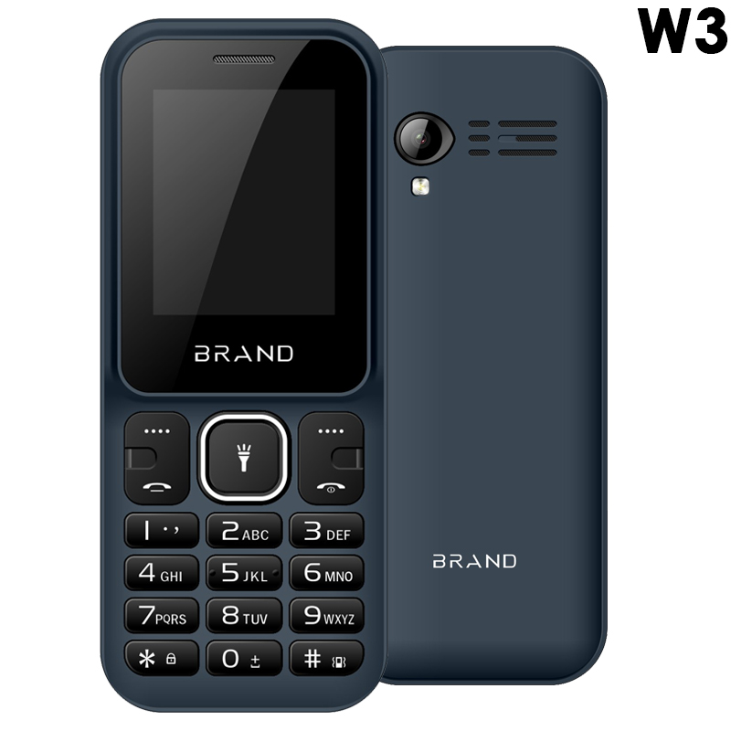"2G feature phone 1.77"" display OEM phone SC6531E chipset with vibration and FM wireless radio"