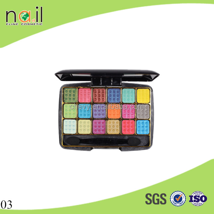 QSF434 18 colors based on own factory private lable makeup accept wholesale eye shadow