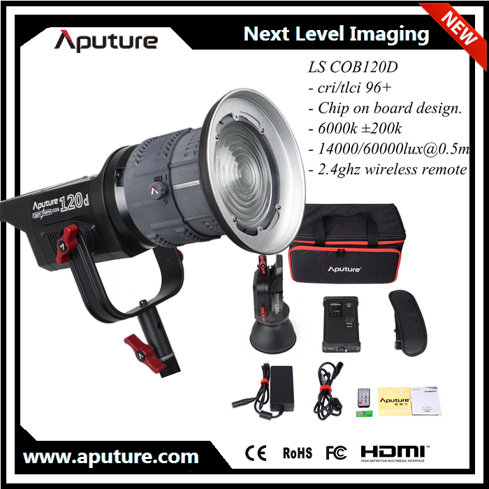 New Aputure LS 120D led lighting equipment kits for video