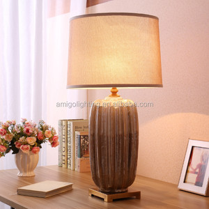 New European design hotel ceramic table lamp with cloth cover TC06