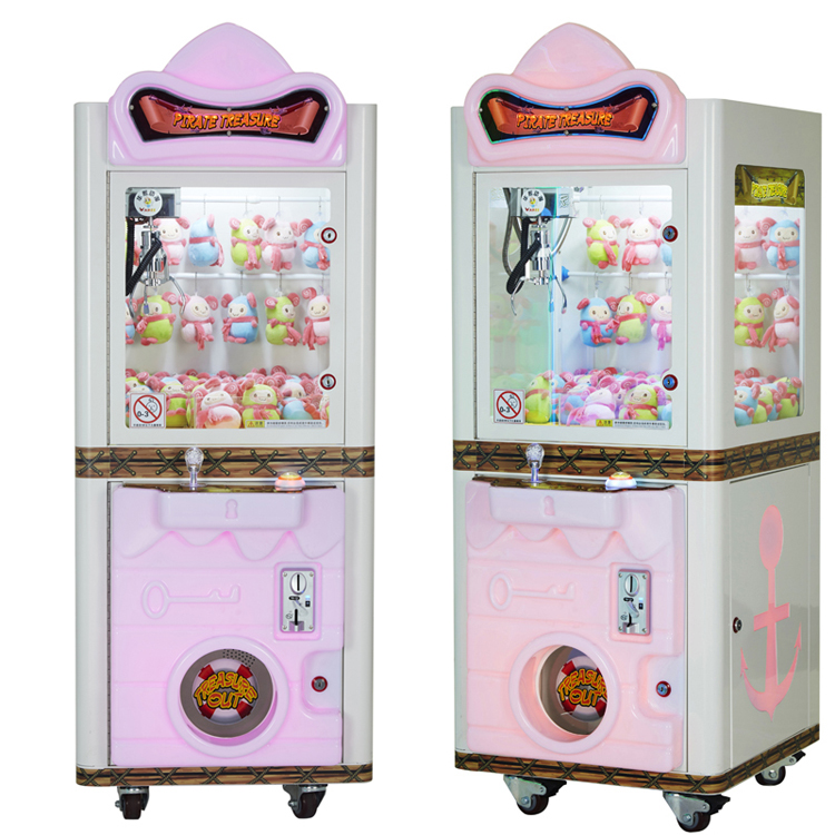 Plush toys crane claw machine/slot game machine/ pushing game for kid
