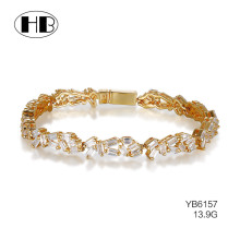 new gold bracelet designs cubic zirconia jewlery bracelet ladies dubai charm jewelry fashion accessories