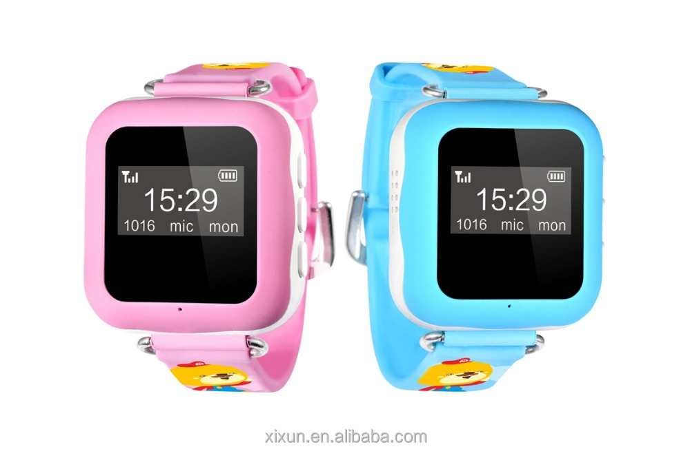 GPS watch tracker for kids child gps bracelet google map, sos button, free apps gsm gps locator