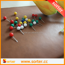 Wholesale 17mm Color Decorative Flat Map Push Pin