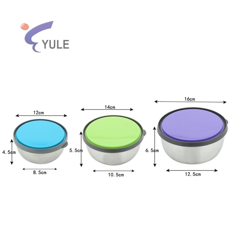 3pcs wholesale customization logo stackabmle lunch box stainless steel food storage container bento with anti-leak lid