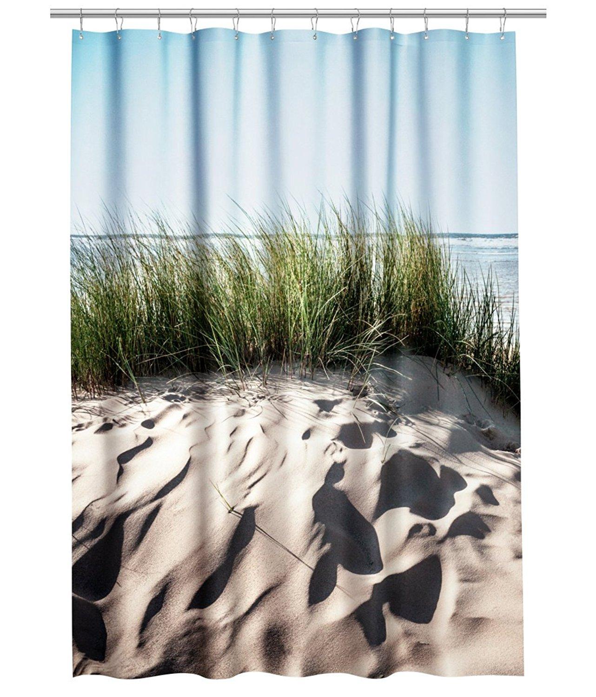 Get Quotations Water Repellent Fabric Shower Curtain Summer Beach Sand Ocean Sea Print