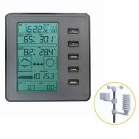 Home usage electronic wireless weather station with all-in-one outdoor sensor