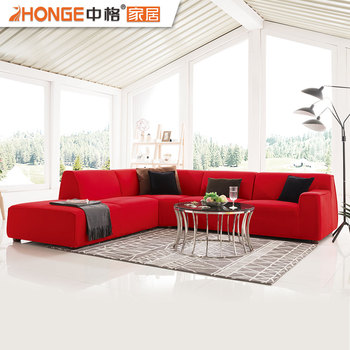 China Top 10 Furniture Brands New Red Living Room Fashion Style Sofa Sets