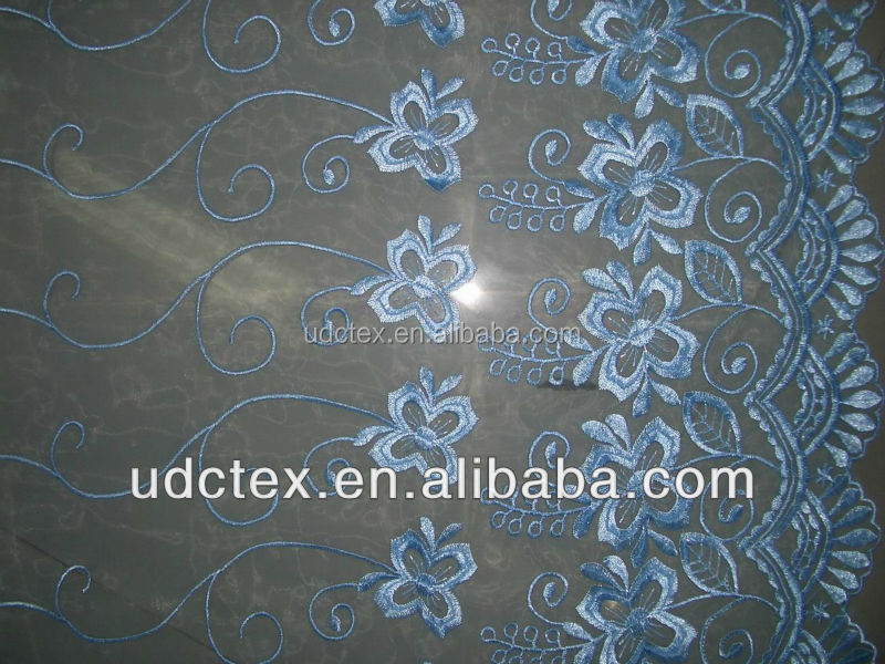 China factory high quality embroidered organza fabric
