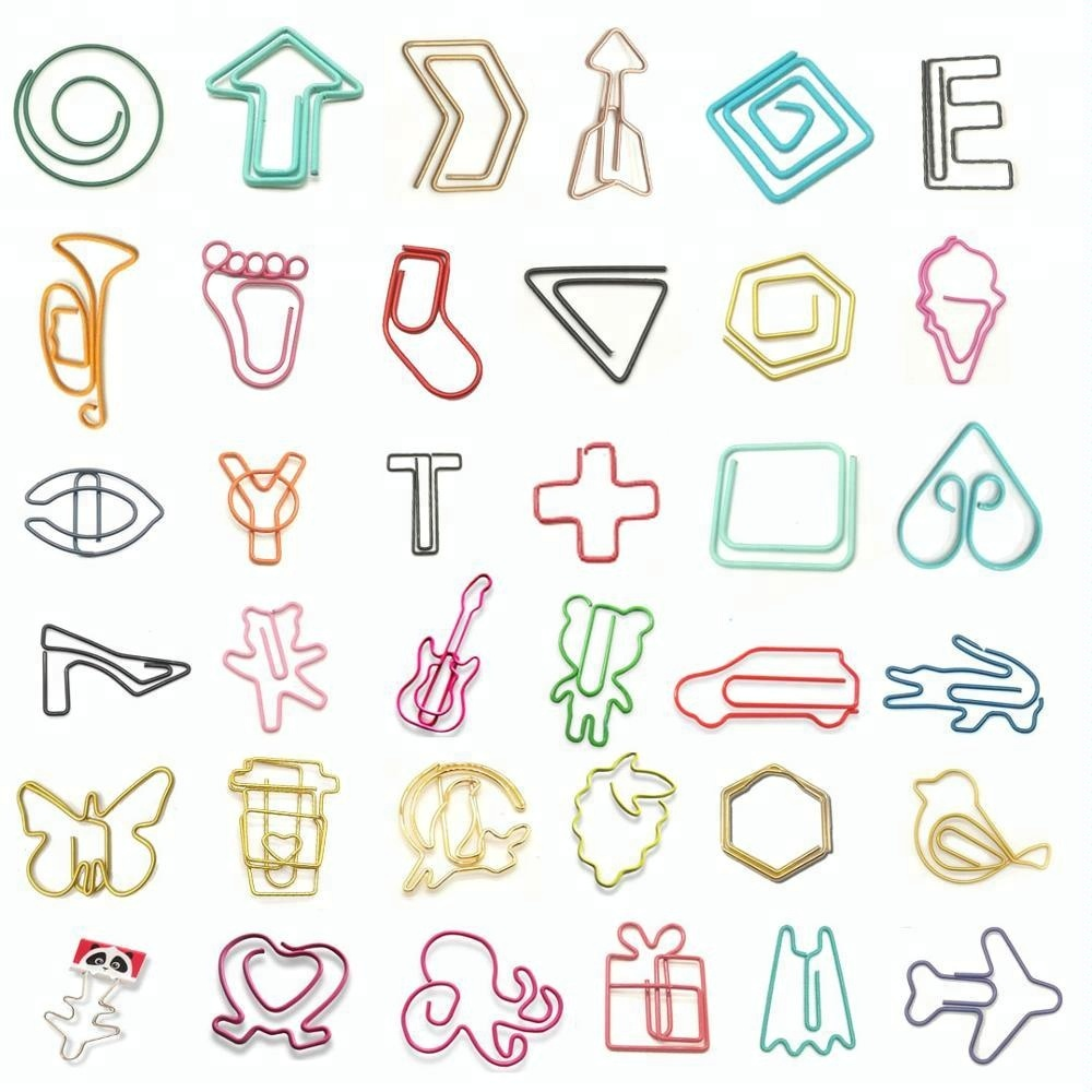 Cute Plastic Metal Arrow Shaped Badge Paper Clips