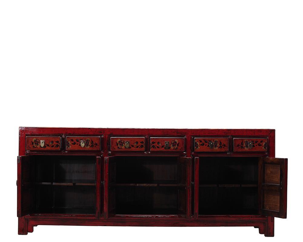 Mobile Credenza Rustica : Cinese depoca in legno dipinto a mano rustico credenza cabinet