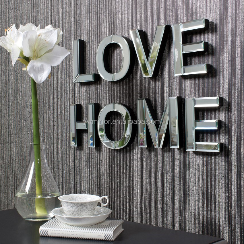 Merveilleux Glass Letters For Wall Simple Hwm10528 Art Deco Letters Wall Decorative  Mirror For Home Design Ideas