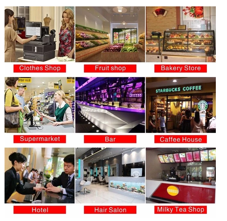 Touch screen pos system with customer display/touch screen pos system restaurant