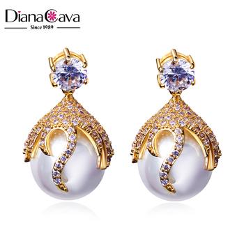 Good Er Women Earrings Design Picture Cz Jewelry Luxury Fancy Drop Pearl Earring