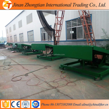 15T hydraulic ramp lifting machine for cargo loading unloading