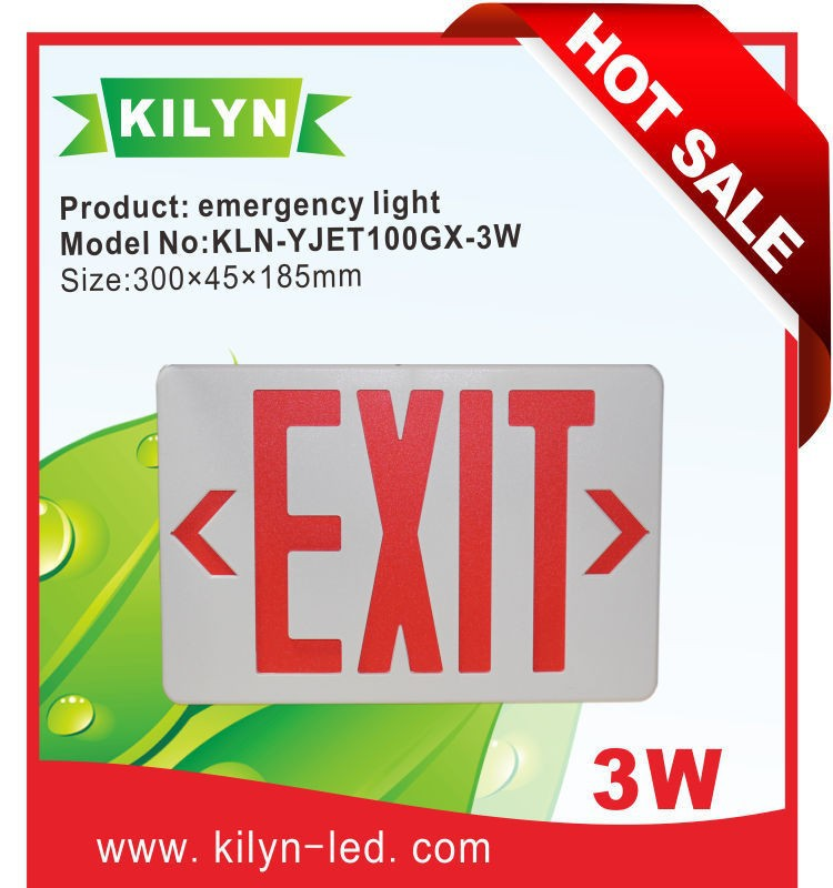 High Light Efficiency Portable Wall Led Exit Sign