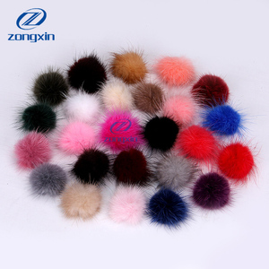 Full round ball for jewelry, small mink fur pom poms