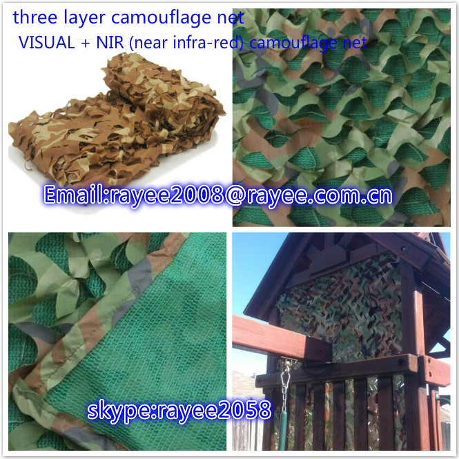 Military Camouflage Net ,multispectral anti-radar  anti Fire Resistant hunting mesh net red de camuflaje ,bulk roll camo netting