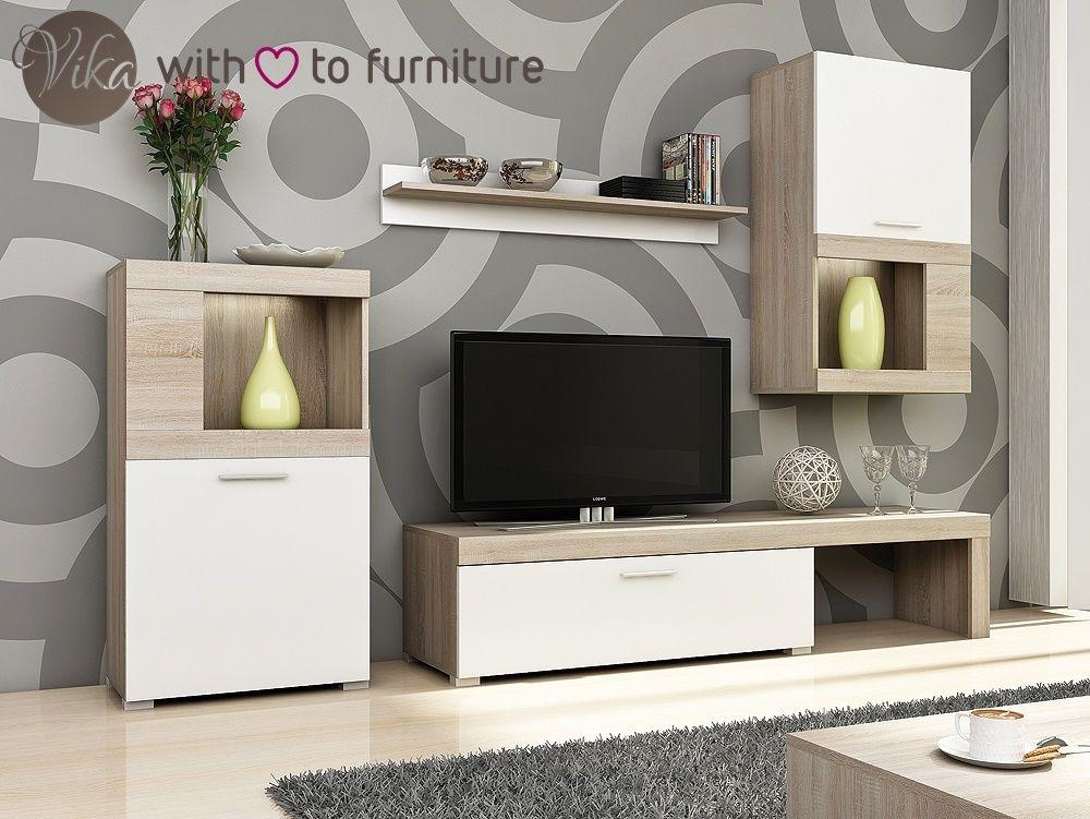 Living Room Furniture Set Modern Tv Wall Unit, Living Room Furniture ...