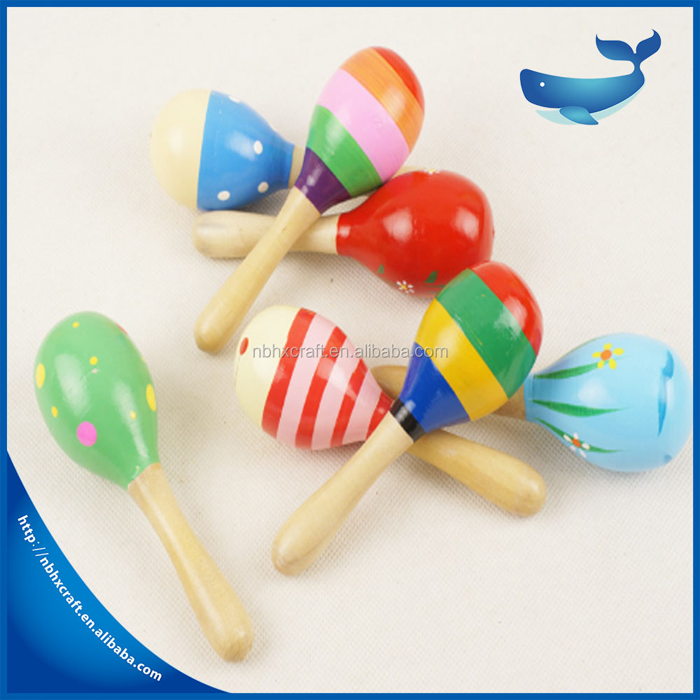 small children cute christmas musical toys soft voice educational learning games toys wooden pad printing maraca voice tube toy