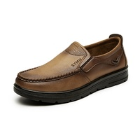 2019 spring new breathing antiskid shoes men leather italian shoes genuine and b... leather loafer manufacturer