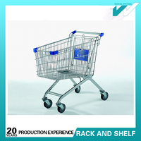 Cheap shopping cart with groceries