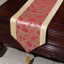 Гордая Роза атласная настольная дорожка флаг Скатерть простая китайская ветер чай стол бегуны кровать украшение для дома с изображением фл...(Китай)