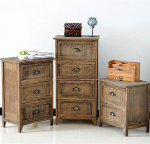 Home furniture receive ark solid wood 2 drawers high-grade Cabinet beside storage table