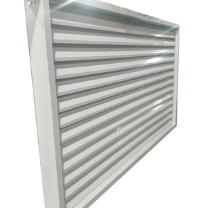 Vertically Mounted Aerofoil Sun Louvre Aluminum Sun Louver for Building Facade