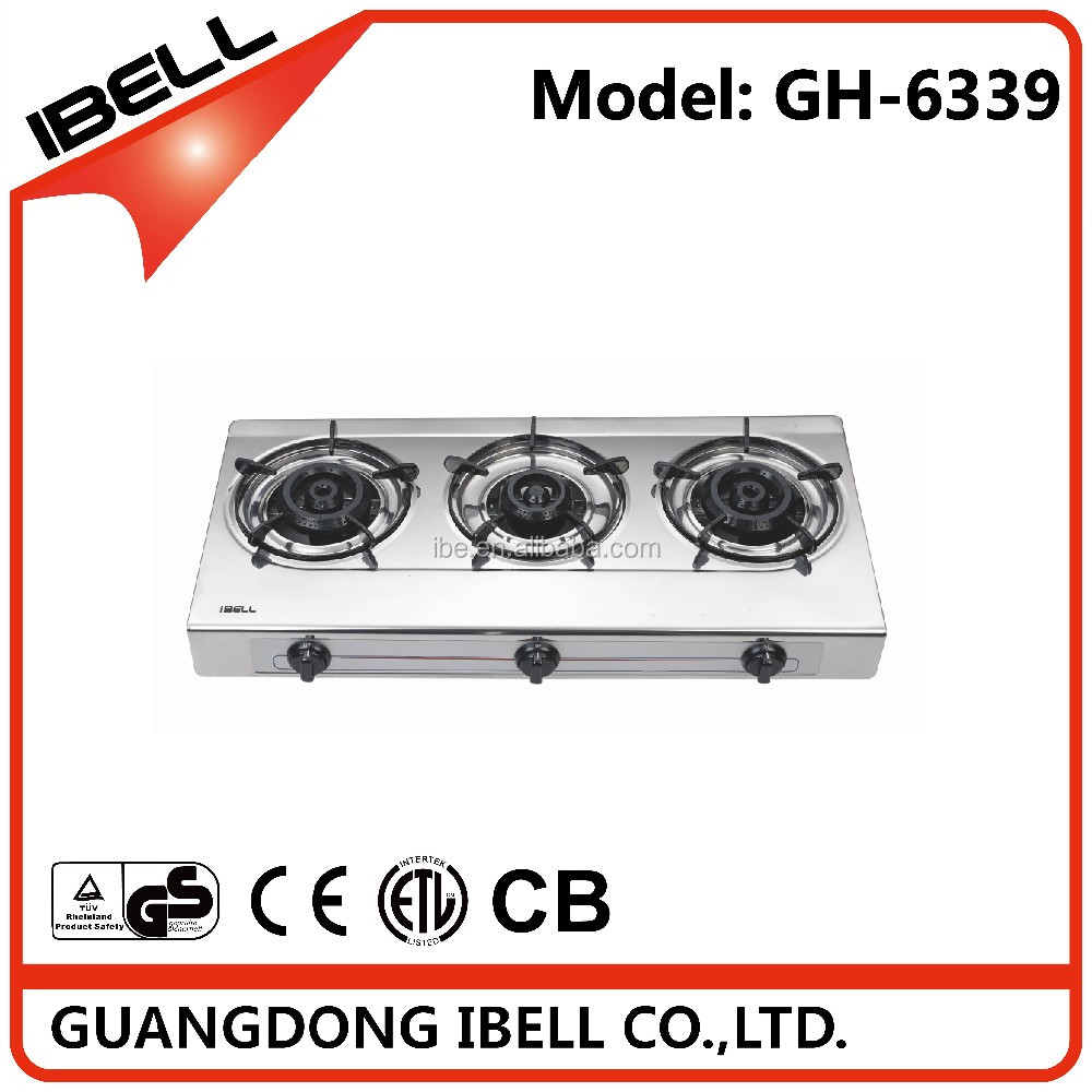 Super quality new-style double burners stainless steel gas stove for cooking
