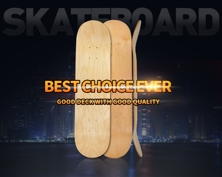Billig 31 * 8inch leer skateboard decks großhandel 7 ply holz skateboard decks china MS3701