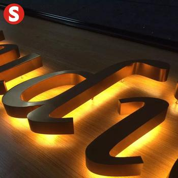 galvanized metal letters backlit led sign
