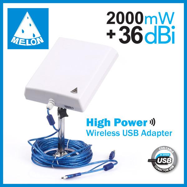2km Rango Wifi 36dbi Antena Adaptador Usb Wifi Antena De Panel Exterior Mel N Apoyo Win10 N4000