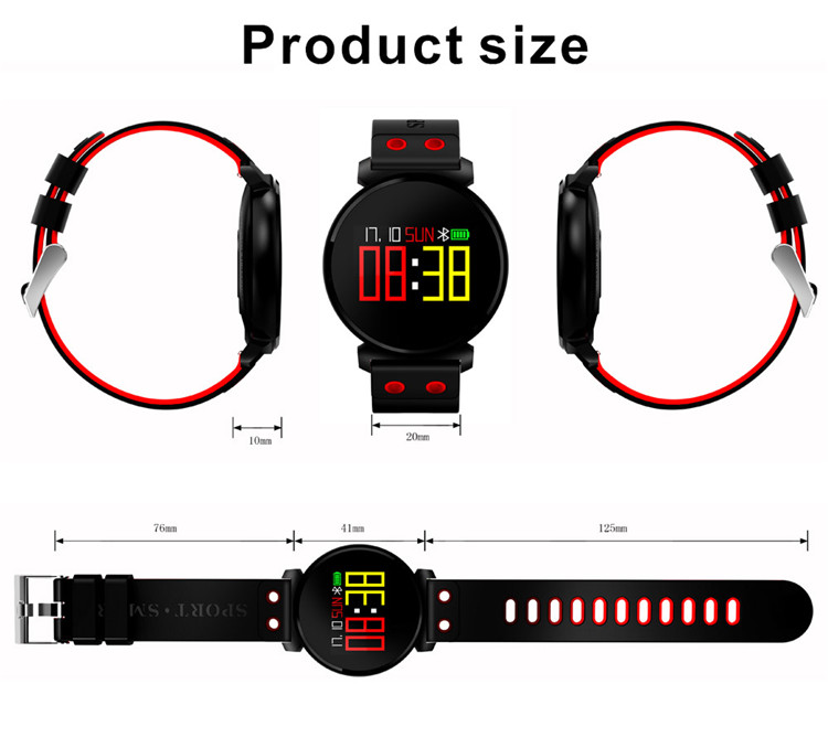 New Arrival IP68 Waterproof Sport Fitness Watch K2 CE ROHS Smartwatch