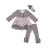 New arrival girls outfits stylish sample girl boutique clothing sets little girls boutique remake clothing sets