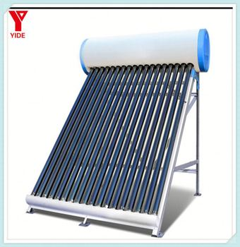 Compact Non Pressurized Water Heater Parabolic Trough