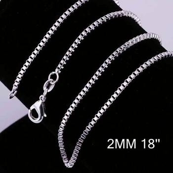 New Simple Design Factory Price 925 Silver Chain Sterling Byzantine Cc009 18 Heavy Chains
