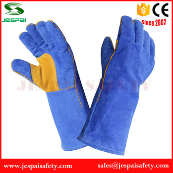 14'' Or 16'' Patch Palm Cow Split Leather Welding Gloves