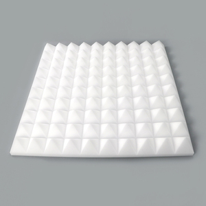 White Pyramid fireproof melamine Acoustic Foam Sound Absorption audio Studio soundproof Panel Foam for acoustic