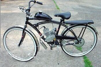 Motorized bicycle kit gas engine cnv 66cc motorised for How to make an electric bike with a starter motor