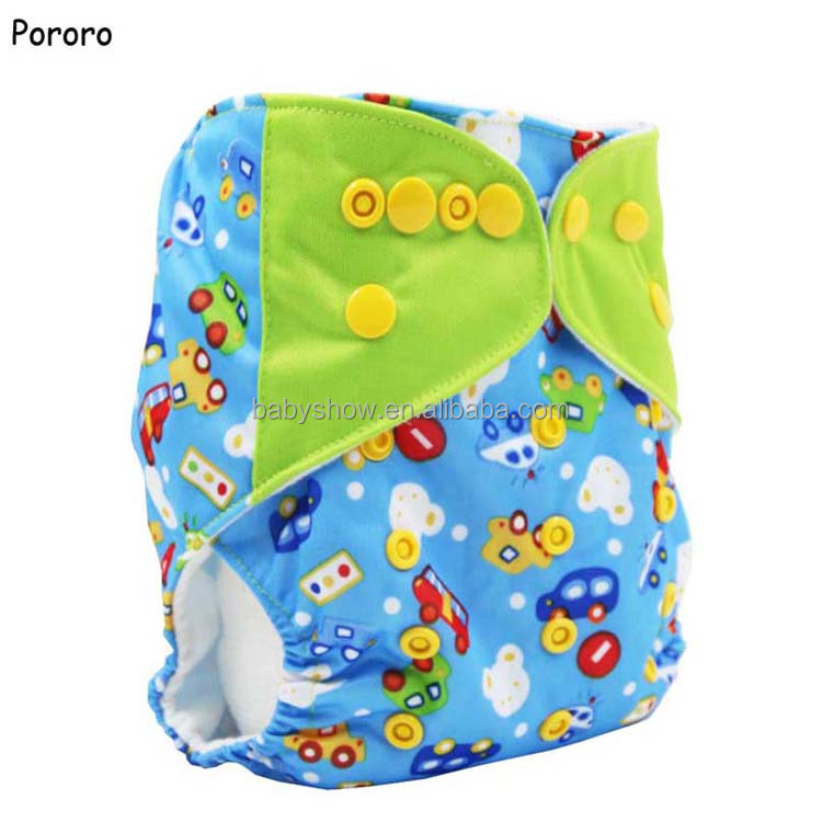 Reusable Diaper For Infants Unisex Pocket Baby Cloth Diaper Baby Nappies Print PUL Factory-direct-nappies