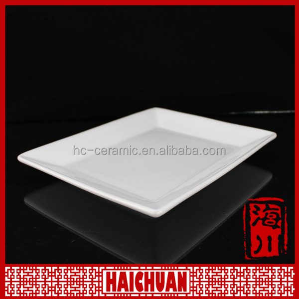 Homeware/houseware product white square dinner plate/porcelain plate
