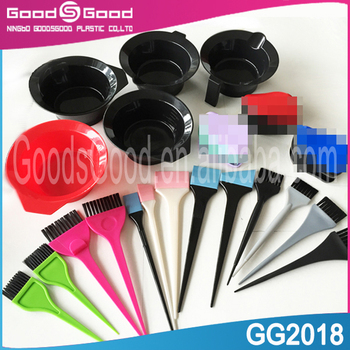 wholesale professional hair tinting brush with plastic hair dyeing comb