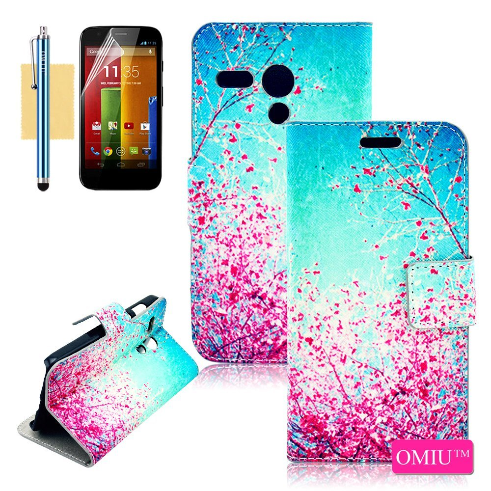 buy online f0d21 51602 Buy Moto G Case, OMIU(TM) [Gorgeous Pink Flowers Design] Bran-new ...